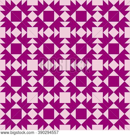 Barn quilt pattern, Quilting blocks, Patchwork design, Abstract geometric tile Vector illustration