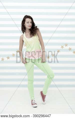 Ambitious And Beautiful. Hip Hop Woman Dancer. Happy And Stylish Sexy Woman. Glamour Fashion Model.