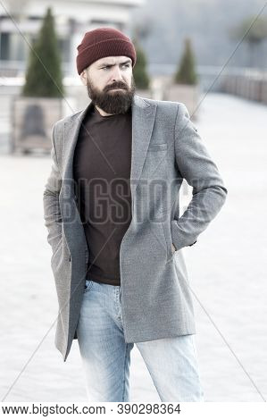 Hipster Outfit And Hat Accessory. Casual Outfit Spring Season. Menswear And Male Fashion Concept. Ma