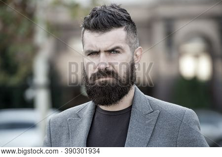 Stylish Beard And Mustache Fall And Winter Season. Bearded And Cool. Barber Tips Maintain Beard. Hip