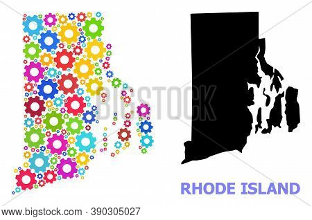 Vector Mosaic Map Of Rhode Island State Created For Mechanics. Mosaic Map Of Rhode Island State Is C