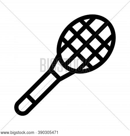 Tennis Racket Icon. Badminton Or Squash Racket Symbol.