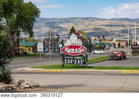 Kremmling, Colorado - September 20, 2020: The Kum And Go Gas Station And C-store In Rural Colorado