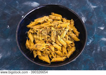 Plant-based Food, Vegan Alfredo Pasta With Nutritional Yeast And Dairy Free Sauce
