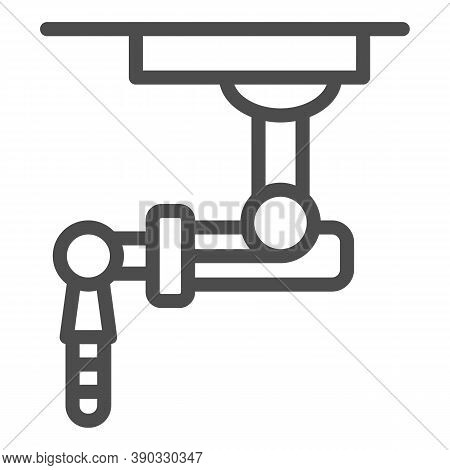 Robotic Machine Line Icon, Robotization Concept, Robot Sign On White Background, Robotic Hand Icon I