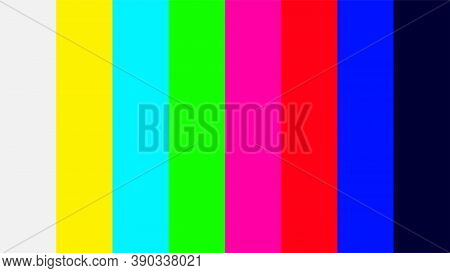 Colorful Colors Signal Of Tv Screen, Television Signal With Graphic Color Film, Video Display Screen
