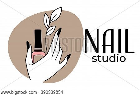 Nail Studio, Beauty Salon With Manicure Procedures Vector