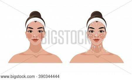 Instructions For Face And Neck Massage, Face Building, Lifting And Lymphatic Drainage, Anti-aging Be