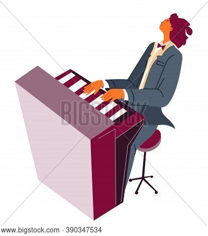 Pianist Playing Classical Music, Piano Player Practicing Skills