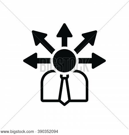 Black Solid Icon For Opportunity Chance Lucky-chance Possibility Occasion Arrow Direction Career