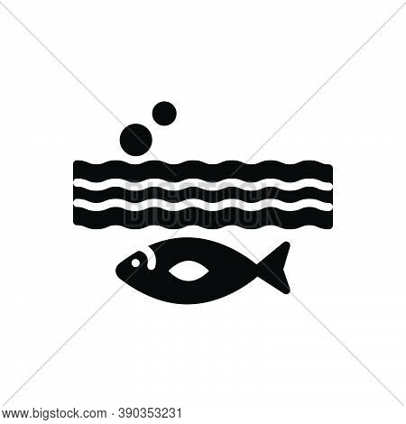 Black Solid Icon For Below Aquarium Aquatic Underwater Beneath Under Underneath Environment Nature