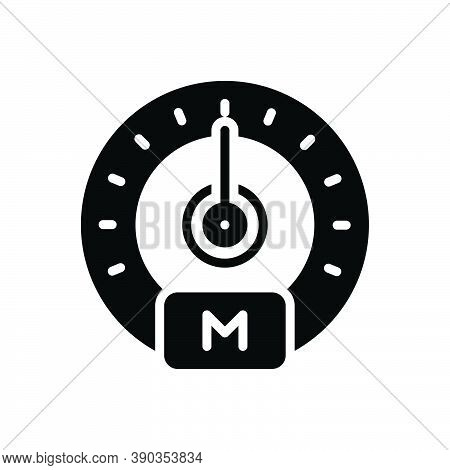 Black Solid Icon For Indicate Control Accelerate Gauge Dashboard Display Speedometer Speed