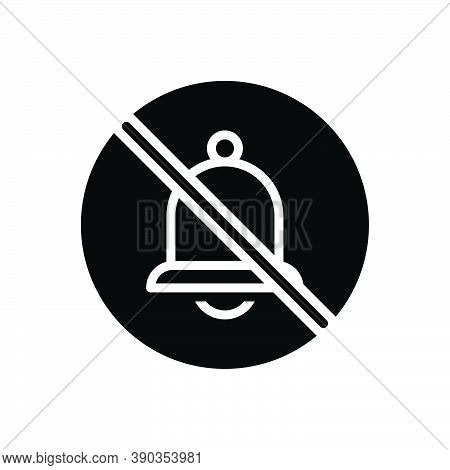 Black Solid Icon For None Prohibited Ban Danger Bell No Stop Risk Warning Caution Circle