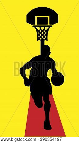 Basketball Vector Illustration Isolated On Background , Slam Dunk, Sport