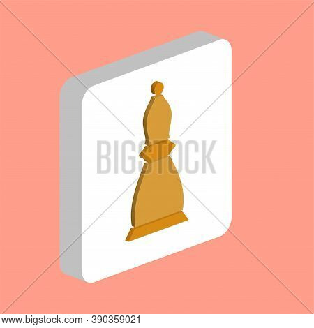 Chess Bishop Simple Vector Icon. Illustration Symbol Design Template For Web Mobile Ui Element. Perf