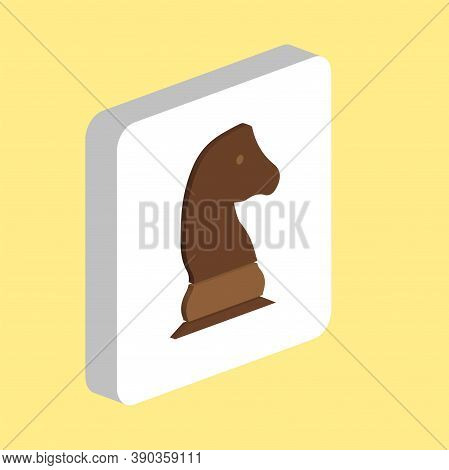 Chess Knight Simple Vector Icon. Illustration Symbol Design Template For Web Mobile Ui Element. Perf