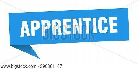 Apprentice Speech Bubble. Apprentice Ribbon Sign. Banner