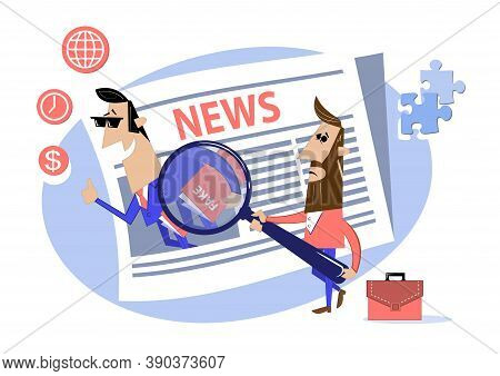 Press And Mass Media. Propaganda Newscast, Untruth Information Spread.