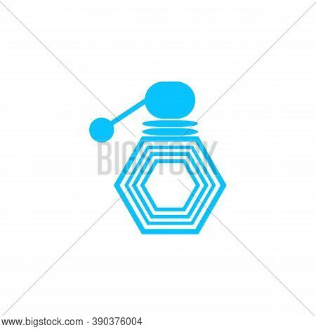 Cologne Icon Flat. Blue Pictogram On White Background. Vector Illustration Symbol