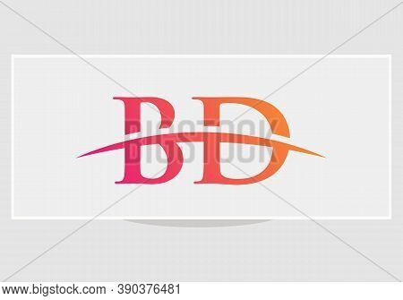 Letter Bd Logo Design With Modern Trendy. Initial Bd Logo.