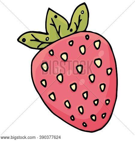 Sweet Red Strawberry, Kawaii Sweets, Vector, Cute Drawing For Kids, Kawaii Sweets