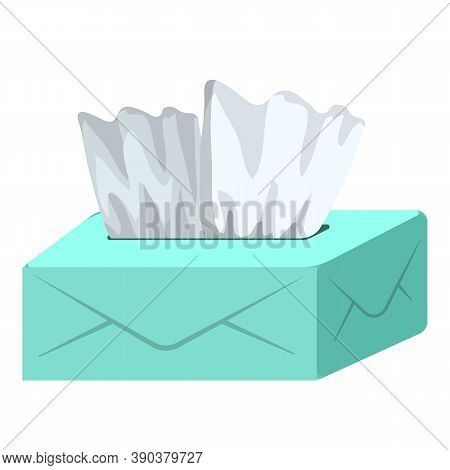 Box With Napkins Icon. Cartoon Of Box With Napkins Vector Icon For Web Design Isolated On White Back