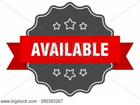 Available Red Label. Available Isolated Seal. Sticker