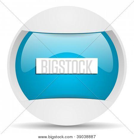 minus round blue web icon on white background