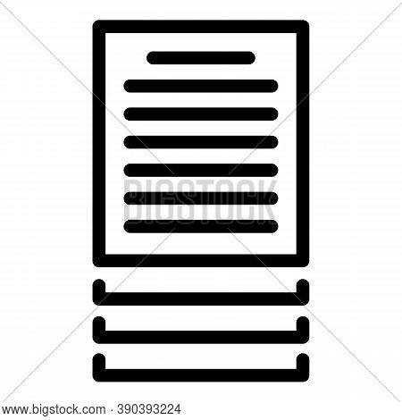 Documents Scenario Icon. Outline Documents Scenario Vector Icon For Web Design Isolated On White Bac