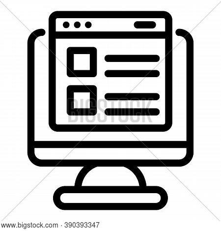Online Scenario Icon. Outline Online Scenario Vector Icon For Web Design Isolated On White Backgroun