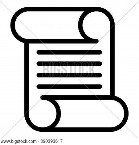 Scenario Scroll Icon. Outline Scenario Scroll Vector Icon For Web Design Isolated On White Backgroun