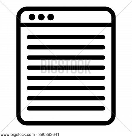 Novel Scenario Icon. Outline Novel Scenario Vector Icon For Web Design Isolated On White Background