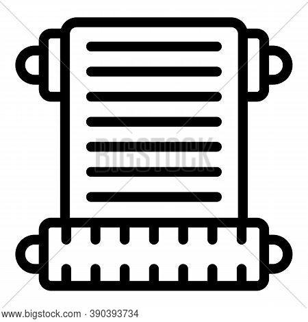 Movie Scenario Script Icon. Outline Movie Scenario Script Vector Icon For Web Design Isolated On Whi