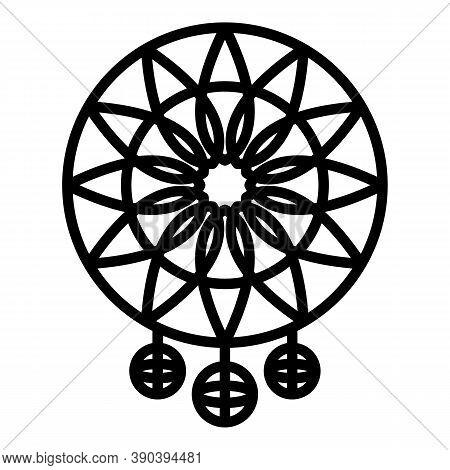 Culture Dream Catcher Icon. Outline Culture Dream Catcher Vector Icon For Web Design Isolated On Whi