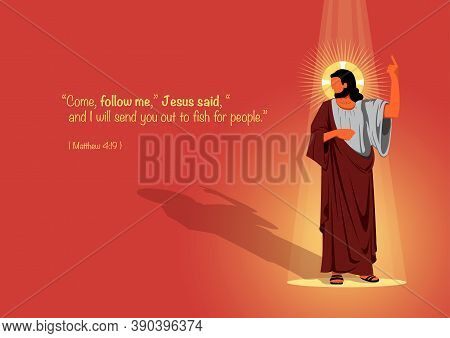 An Illustration Of Jesus Standing And Asking To Follow Him
