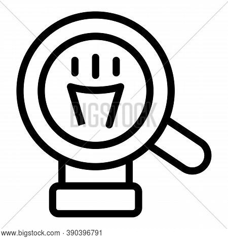 Magnifying Idea Icon. Outline Magnifying Idea Vector Icon For Web Design Isolated On White Backgroun