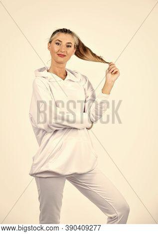 Fashionable Sportswear. Trendy Sportswear. Sport Style. Feel So Sporty. Fitness Woman Wear Sportswea
