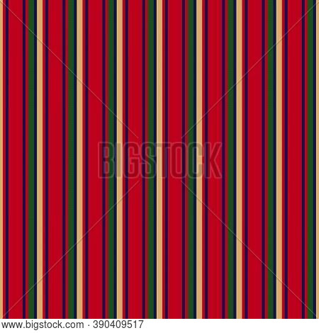Christmas Stripe Seamless Pattern Background In Vertical Style