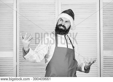 Happy Bearded Man. Chef Recipe. Cuisine Culinary. Vitamin. Dieting Organic Food. Healthy Food Cookin