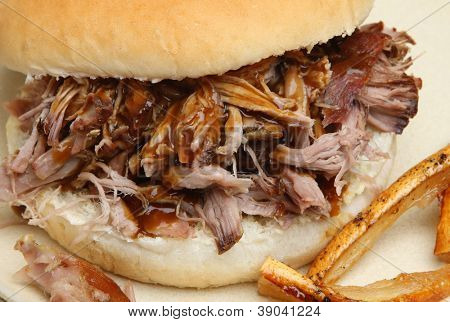 Hog roast roll with crackling