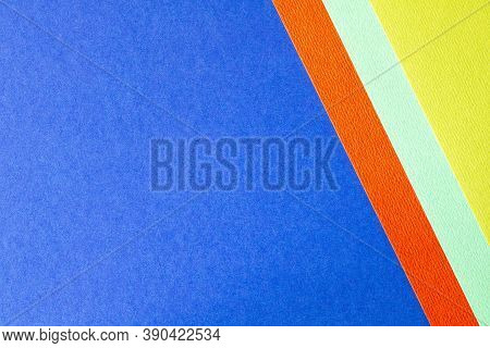 Trending Colors For 2020. Abstract Blue Red Yellow Background. Abstract Geometric Background For The