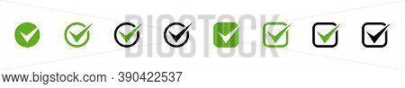 Check Marks. Check Mark Vector Icons Collection. Business Icons. Check Mark Isolated. Vector Illustr