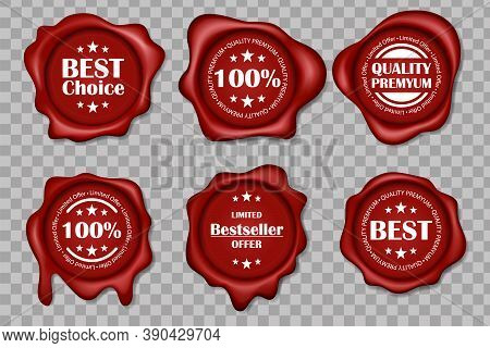 Wax Seal Collection. Set Of Premium Quality Wax Stamp, Best Price Red Wax Seals Set Of Realistic