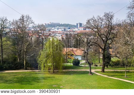 View Of Spilberk Castle From The Villa Tugendhat Garden By Architect Ludwig Mies Van Der Rohe Built