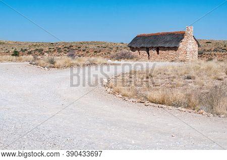 Kgalagadi Transfrontier Park, South Africa - June 06, 2012: An Historic Settler Home At Auchterlonie