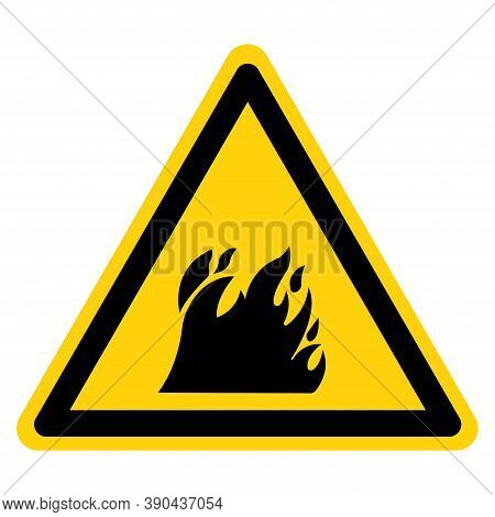 Danger Flammable Material Symbol Sign ,vector Illustration, Isolate On White Background Label. Eps10