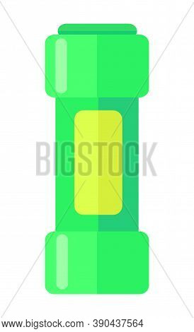 Cleaning Powder In Green Bottle Or Container, Simple Icon, Laundry Detergent, Cleanser, Cleaning Age