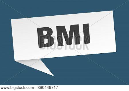 Bmi Speech Bubble. Bmi Ribbon Sign. Bmi Banner