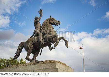 Andrew Jackson Statue In New Orleans In Jackson Square, La Usa