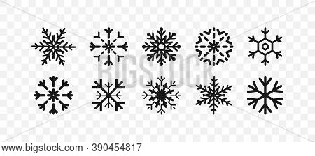 Snowflakes Icons. Snowflake Template. New Year, Winter, Christmas, Xmas. Whether Symbol. Snowflake W